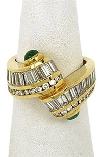 Other Charles Krypell 18k Yellow Gold 3ctw Diamond Emerald Unique Design Ring