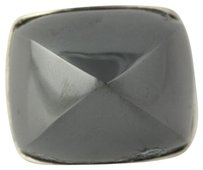 Other Chunky Hematite Ring - Sterling Silver 8.25 Unique Statement Gray Stone