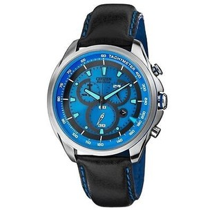 Citizen At2180-00l Eco-drive Drive Wdr Chrono Leather Blue Dial Mens Wat