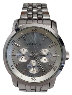 Other Claiborne Mens Clm1000 Silver Tone Band. Silver Face W Multi Functions