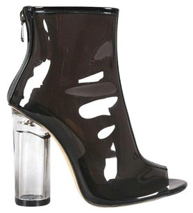 Clear Heel Perplex Jelly Black Boots