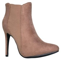 Closed-toe Beige Boots