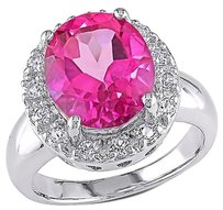 Sterling Silver 6 15 Ct Tgw Pink Topaz White Topaz Fashion Ring