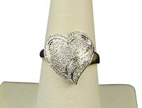 Other 10k Ladies Womens 15 Mm Diamond Engagement Heart Ring