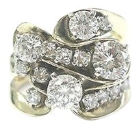 Other Fine Round Diamond Cocktail Yellow Gold Jewelry Ring 14kt 1.67ct