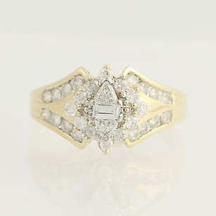 Composite Diamond Ring - 14k Yellow White Gold Trillion Baguette 1.00ctw