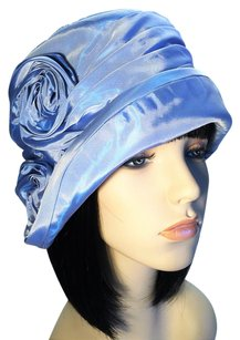 Cornflower Blue Taffeta Cloche [ HeavenlyHats ]