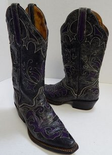 Other Dillon B Distressed Goat Western Cowboy Black Boots