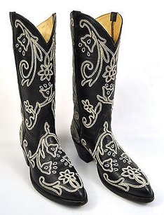 Falconhead Tres Outlaws Black Boots