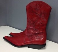 Other Materia Prima Floral Embroidered Western B3305 Red Boots