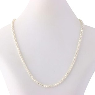 Cultured Pearl Strand Necklace 14 - 14k Yellow Gold Womens Fine June Gift