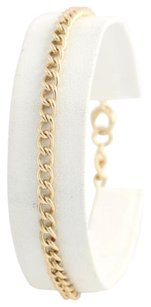 Curb Chain Bracelet 12 - 14k Yellow Gold Womens Fine Estate Spring Ring