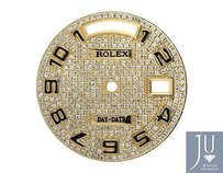Custom Arabic Number Pave Set Diamond Dial For Rolex Day-date Mm Watch 1.5 Ct