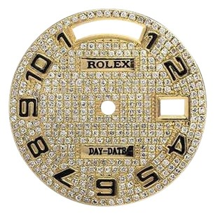 Other Custom Arabic Number Pave Set Diamond Dial For Rolex Day-date Mm Watch 1.5 Ct
