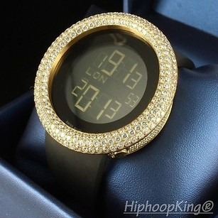 Custom Digital Iced Out Bling Case Multi Functional Swiss Style Rodeo Mens Watch
