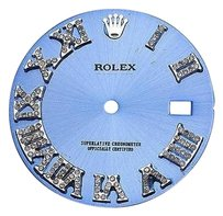 Custom Pave Set Diamond Blue Dial For Rolex Datejust 41mm Watch 0.75 Ct