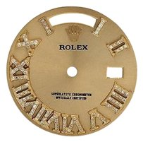Other Custom Pave Set Diamond Gold Finish Dial For Rolex Day Date 1 41mm Watch 0.75 Ct
