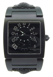 Other De Grisogono Uno Df N04 Black Pvd Dual Time Date Watch Stingray Limited Edition