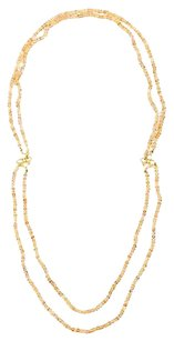 Denise Betesh 22k Yellow Gold Topaz Diamond Two Strand Beaded Necklace