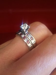 Diamond And Rubby Wedding Ring Set