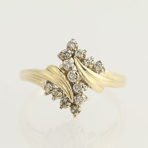 Other Diamond Bypass Ring - 10k Yellow Gold Womens Anniversary