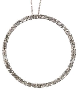 Other Diamond Eternity Pendant Necklace 18 - 10k White Gold Genuine .50ctw