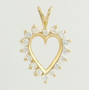 Other Diamond Heart Pendant -14k Yellow Gold Natural 12ctw Love