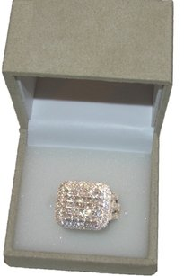 Diamond Ring - 5.00 Ctw Round Baguette Princess Diamonds Set In 10kt Yellow Gold