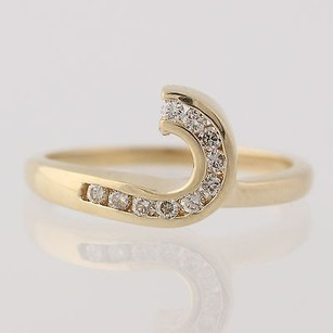 Other Diamond Solitaire Enhancer Ring - 14k Yellow Gold Wedding Band Genuine .15ctw