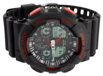 Other Digital Watch Sport Black Red Day Date Timer Shock Resistant Waterproof Big Face