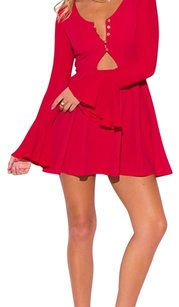 short dress Red on Tradesy