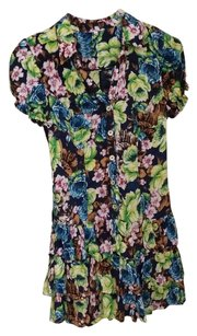 Other short dress Navy blue and floral on Tradesy