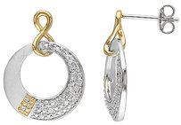 Other Sterling White Yellow Silver 17 Ct Diamond Infinity Drop Earrings Gh I2i3