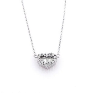 Other Elegant Diamonds Heart Pendant Chain Necklace In 18k White Gold