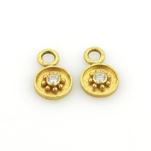Elizabeth Locke Diamonds 18k Yellow Gold Earring Drop Charms