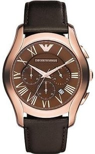 Emporio Armani Rose Gold-tone Leather Chronograph Mens Watch Ar1701