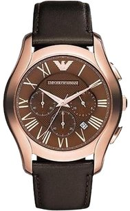 Other Emporio Armani Rose Gold-tone Leather Chronograph Mens Watch Ar1701