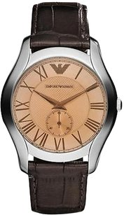 Emporio Armani Xx Dark Brown Croco Leather Mens Watch Ar1704