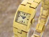 Enicar Vintage Swiss Lady Gold Plated Manual Mechanical Watch 1960s Dx26