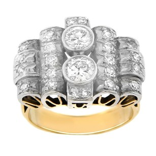 Other Estate 14k Yellow Gold And Diamond Loops Ring