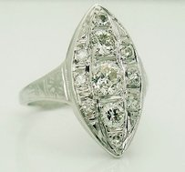 Estate Antique 14k White Gold 1.10 Carat Old Miner Diamond Ring R140