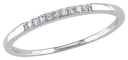 Other 10k White Gold Diamond Fashion Stackable Soltiare Ring Gh I2i3