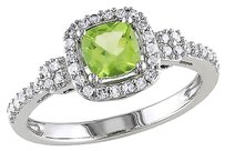 Other 10k,White,Gold,15,Ct,Diamond,Tw,And,58,Ct,Tgw,Peridot,Fashion,Ring,