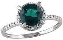 10k White Gold Diamond And 1 12 Ct Tgw Emerald Fashion Ring Gh I2i3