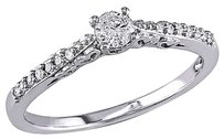 10k White Gold 14 Ct Diamond Tw Engagement Ring Gh I2-i3