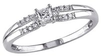 Other 10k White Gold 16 Ct Princess And Round Diamonds Tw Fashion Ring Gh I2-i3
