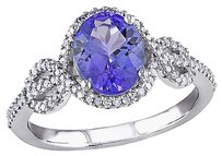 Other 10k White Gold 14 Ct Diamond Tw And 2 Ct Tgw Tanzanite Fashion Ring Gh I1-i2