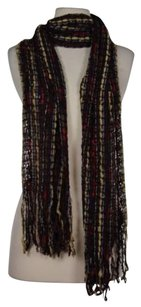 Other Filatess Womens Red White Black Purple Beige Striped Scarf Acrylic Blend
