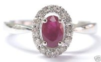Fine Gem Ruby Diamond Jewelry Ring Wg 14kt