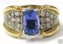 Fine Gem Tanzanite Diamond Designer Jewelry Ring 3.06ct